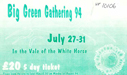 a ticket for the Big Green Gathering 1994