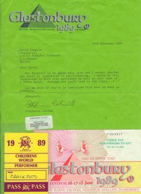 Contract Glastonbury 1989