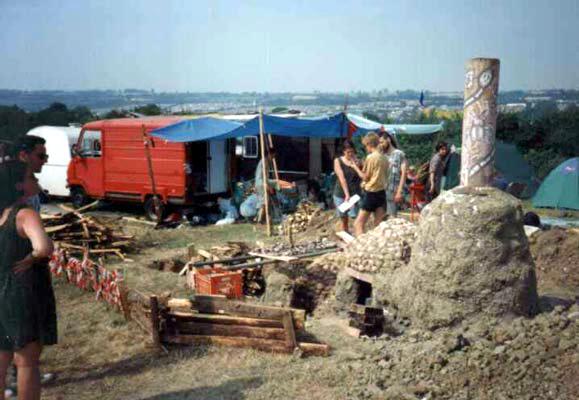 Green Crafts Field kiln and crew
