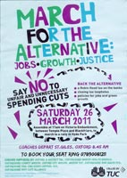 Poster advertising the demo for the Alternative held in London in 2011