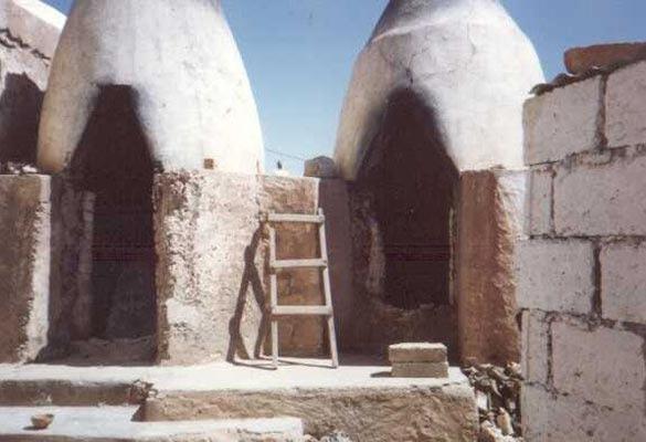 Traditional pottery kilns in Safi, Morocco around 1987